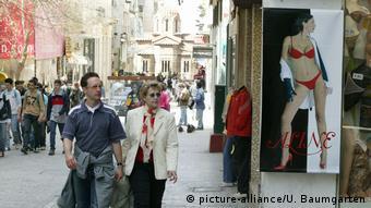 Griechenland Athen - Ermou Einkaufsstrasse