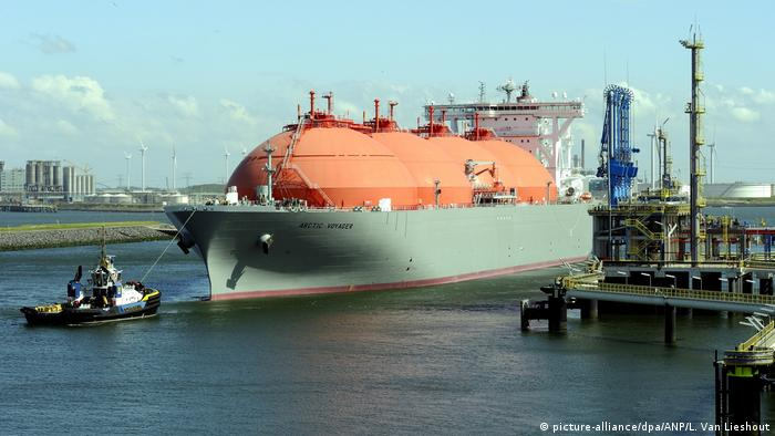 Танкер зі скрапленим газом у порту Роттердама