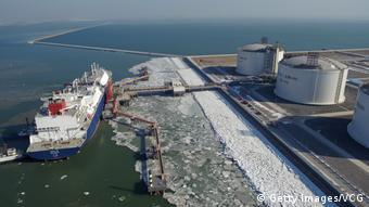 СПГ-терминал в китайском порту Тяньцзинь