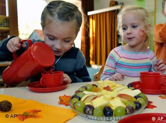 German kids in kindergarten