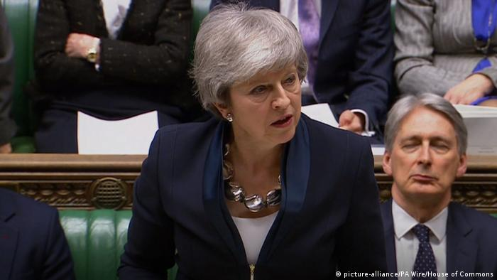 Großbritannien London Theresa May im Unterhaus (picture-alliance/PA Wire/House of Commons)