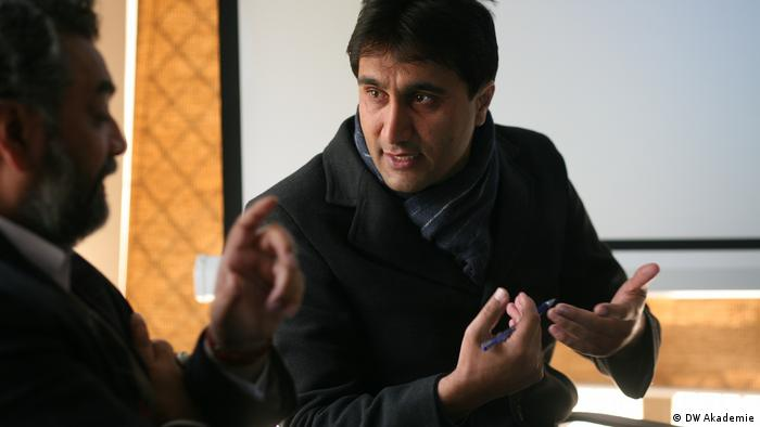 DW Akademie Pakistan - Knowledge Fair Session mit Leitern journalistischer Abteilungen