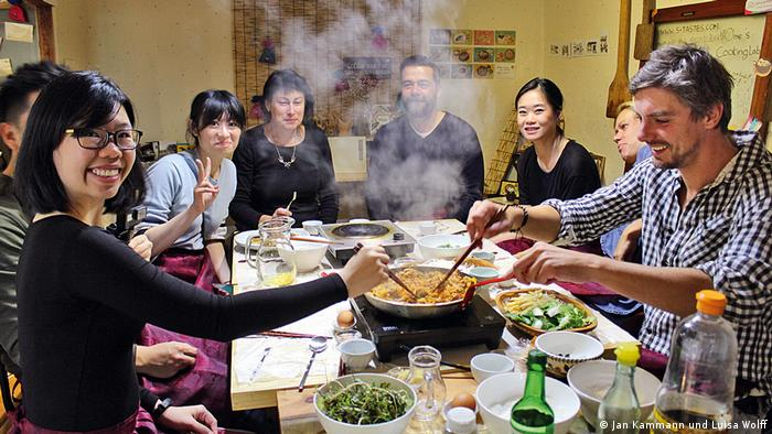 Kammann at a cooking class in South Korea