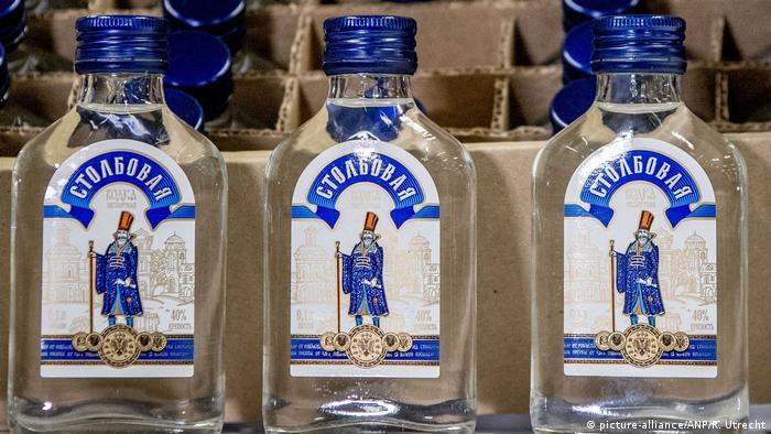 Российская водка, конфискованная таможней Нидерландов