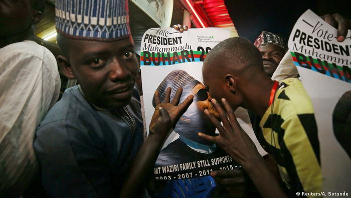Nigeria Anhänger Buhari Jubel
