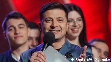 Ukraine, Kiew: Präsidentschaftskandidat Volodymyr Zelenskiy