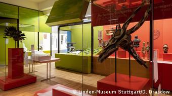 Blick in einen Museumsraum, Linden-Museum Stuttgart, Namibia