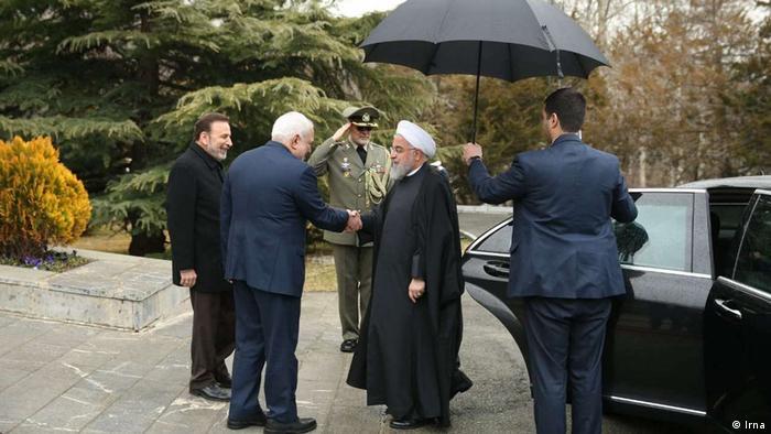 Iran Außenminister Javad Zarif und Präsident Hassan Rohani