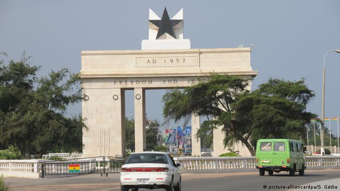 The Independence Arch in Accra, Ghana
