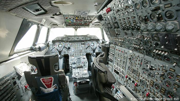 Inside a Concorde cockpit