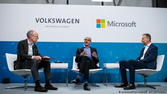 VW, Microsoft press conference