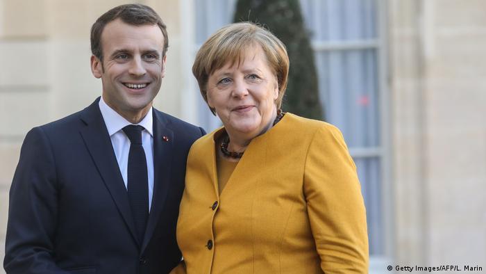 Merkel and Macron in Paris
