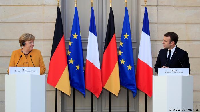 Frankreich, Paris: Staatsbesuch Angela Merkel trifft Emmanuel Macron
