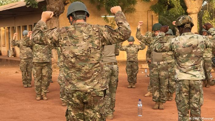 US forces in Burkina Faso conduct pre-jump drills