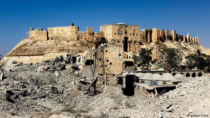 Damaged Citadel of Aleppo (Sultan Kitaz)