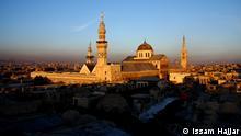 Syrien, Umaiyadenmoschee von Damaskus, über dem Häusermeer der historischen Altstadt, die als Ganzes zum UNESCO-Welterbe gehört.