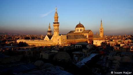 Syrien, Umaiyadenmoschee von Damaskus, über dem Häusermeer der historischen Altstadt, die als Ganzes zum UNESCO-Welterbe gehört. (Issam Hajjar)