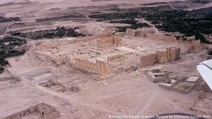 Temple of Bel after IS destruction (Staatliche Museen zu Berlin, Museum für Islamische Kunst/E. Wirth)
