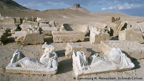 Syrien, im Tal der Gräber von Palmyra (Sammlung M. Meinecke/A. Schmidt-Colinet)