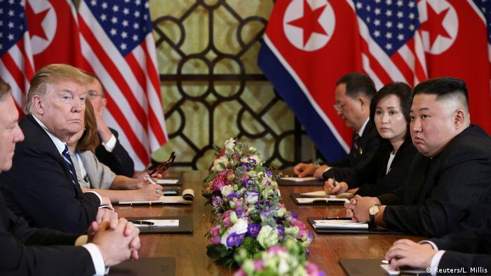 Donald Trump and Kim Jong Un meeting in Hanoi
