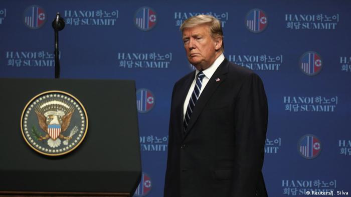 Vietnam l Trump nach Gipfeltreffen mit Kim Jong Un in Hanoi (Reuters/J. Silva)