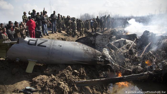 Avión indio derribado por fuerzas paquistaníes el 27 de febrero pasado