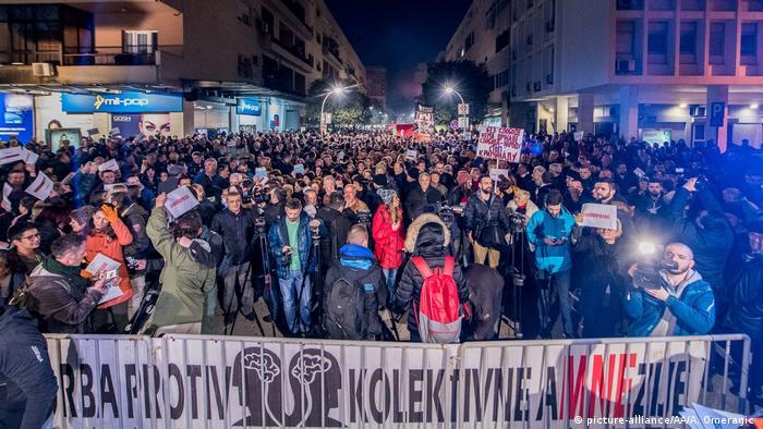 Prosvjedi u Crnoj Gori protiv Vlade i predsjednika Đukanovića