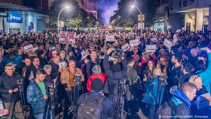 Montenegro Protest gegen die Regierung