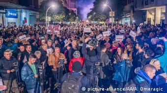 Montenegro Protest gegen die Regierung (picture-alliance/AA/A. Omeragic )