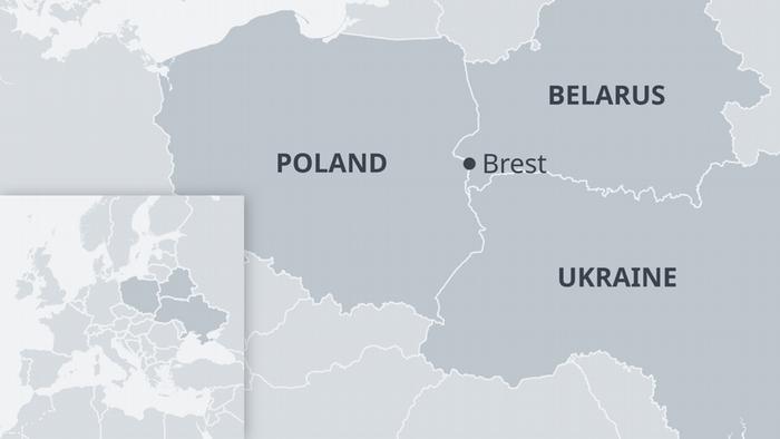 Infografik Karte Belarus Brest EN