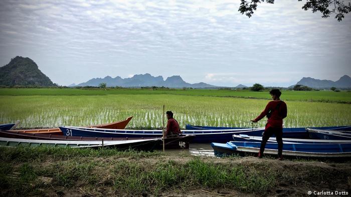 Myanmar Dorfbewohner im Bundesstaat Kayin