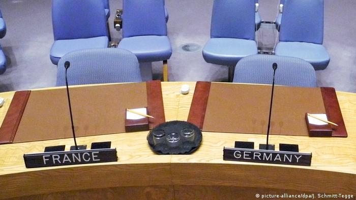 The German and French seats on the UN Security Council (picture-alliance/dpa/J. Schmitt-Tegge)