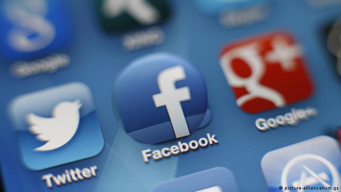 Логотипы Twitter, Facebook и Google