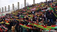Fußball Begegnung zwischen Manisapor - Amedspor Fans
