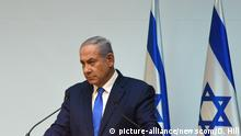 Israeli Prime Minister Benjamin Netanyahu speaks to the press ahead of the UN Security Council discussion about Israel's discovery of Hezbollah terror tunnels which violate Israel's sovereignty and UNSC Resolution 1701,in the Israeli Knesset, Jerusalem, Israel, December 19, 2018. Photo by Debbie Hill /UPI Photo via Newscom picture alliance  