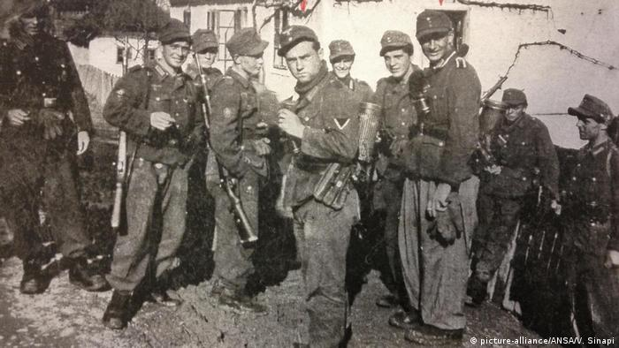 A photo of Wehrmacht soldiers on Cephalonia in 1943(picture-alliance/ANSA/V. Sinapi)