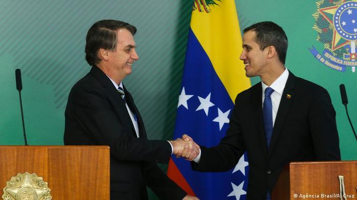 Jair Bolsonaro recebe Juan Guaidó em Brasília