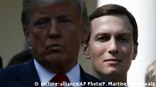 USA Washington Donald Trump und Jared Kushner