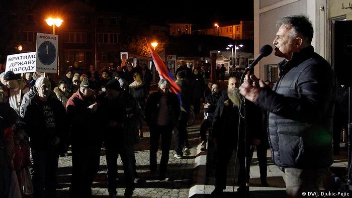 Serbien Knjazevac Demonstration gegen die Regierung