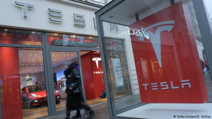 A Tesla showroom in Berlin