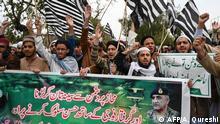 Pakistan Proteste in Islamabad gegen die Auslieferung des indischen Pilots
