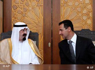 King Abdullah and President Bashar al-Assad