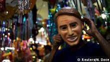 Jair Bolsonaro Maske Brasilien Karneval