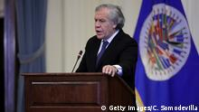 USA, Washington: Luis Almagro beim Treffen über staatliche Korruption und Menschenrechtsverletzungen in Venezuela