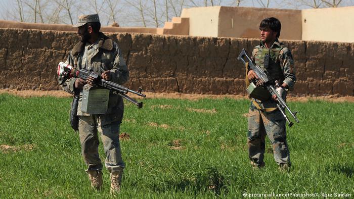 Afghanistan Afghanische Sicherheitskräfte bei einer Übung in der Provinz Helmand