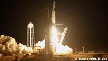 USA Cape Canaveral Start der SpaceX Falcon 9 Rakete