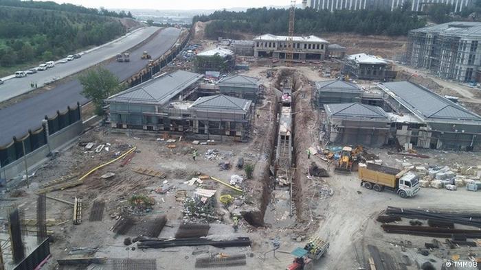 Türkei - Baustelle des Vergnügungsparks Ankapark in Ankara