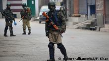 Indien Kaschmir Soldaten in Srinagar