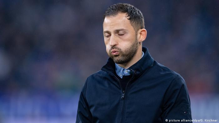 Fußball Bundesliga Fortuna Düsseldorf - FC Schalke 04 Trainer Domenico Tedesco