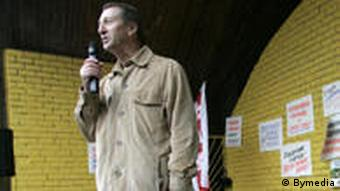 Александр Ярошук на профсоюзном митинге (фото из архива)